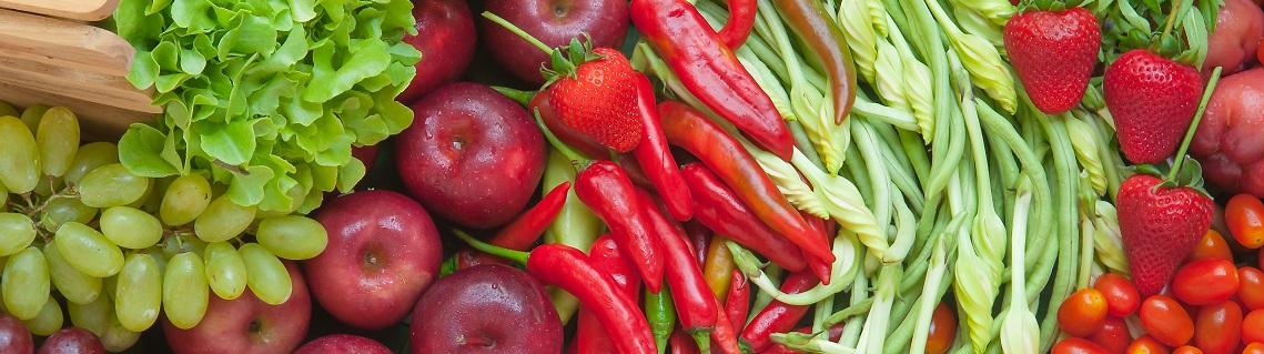 fresh frruit and vegetables